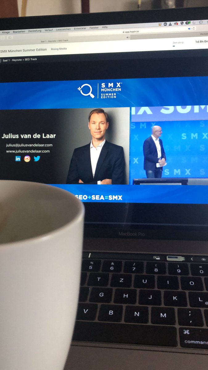 @smxmuenchen from the sofa. Have a coffee and inform yourself. Very interesting lecture by @juliusvandelaar https://t.co/K44idjLBaA