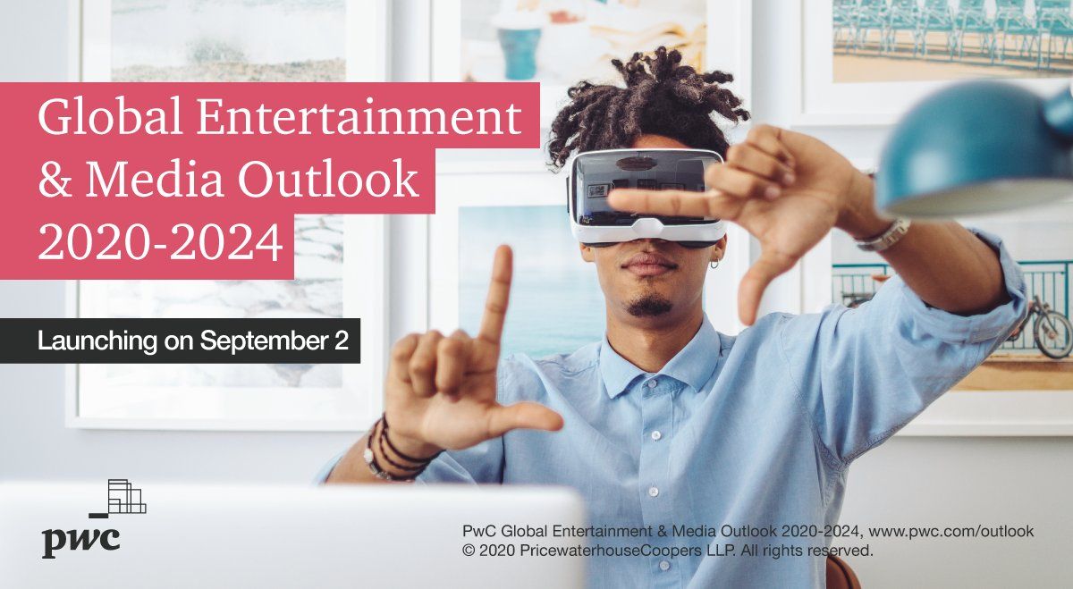 How is the pandemic impacting the entertainment & media industry, and what trends are emerging? @PwC's Global E&M Outlook 2020-2024 -- out 2 Sept. -- covers it all.  https://t.co/sDFfBChKZn https://t.co/q7gcn5Hvly