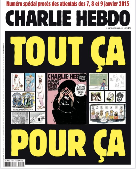 On The Eve Of The Trail Of The 2015 Terror Attacks Charlie Hebdo Republishes Caricatures Of Mohammed A Riverside View