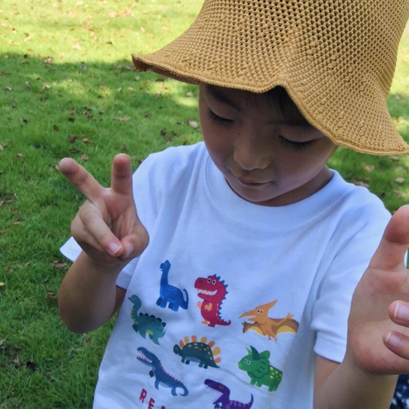 甥っ子用に買ったSUZURIの恐竜Tシャツが届いた! https://t.co/bOPzoUINln
