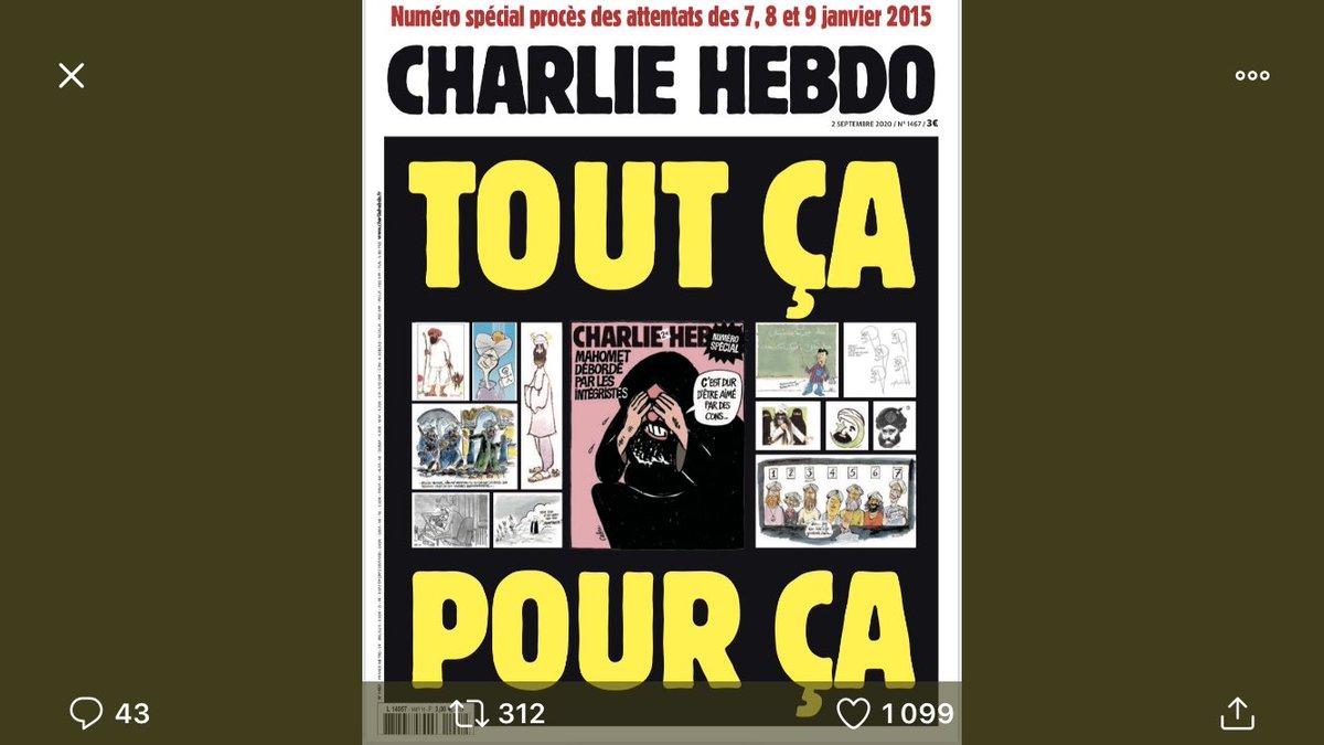 Courageuse Une de @Charlie_Hebdo_ et magnifique édito de #Riss  #ToujoursCharlie https://t.co/o3HYgIlxPA