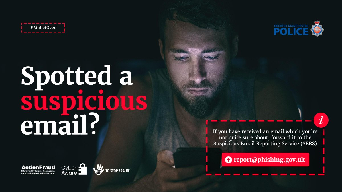 Greater Manchester Police On Twitter Received An Email Which You Re Not Quite Sure About Is It Asking You To Login To Your Account Or Maybe To Confirm Your Payment Details If You Are