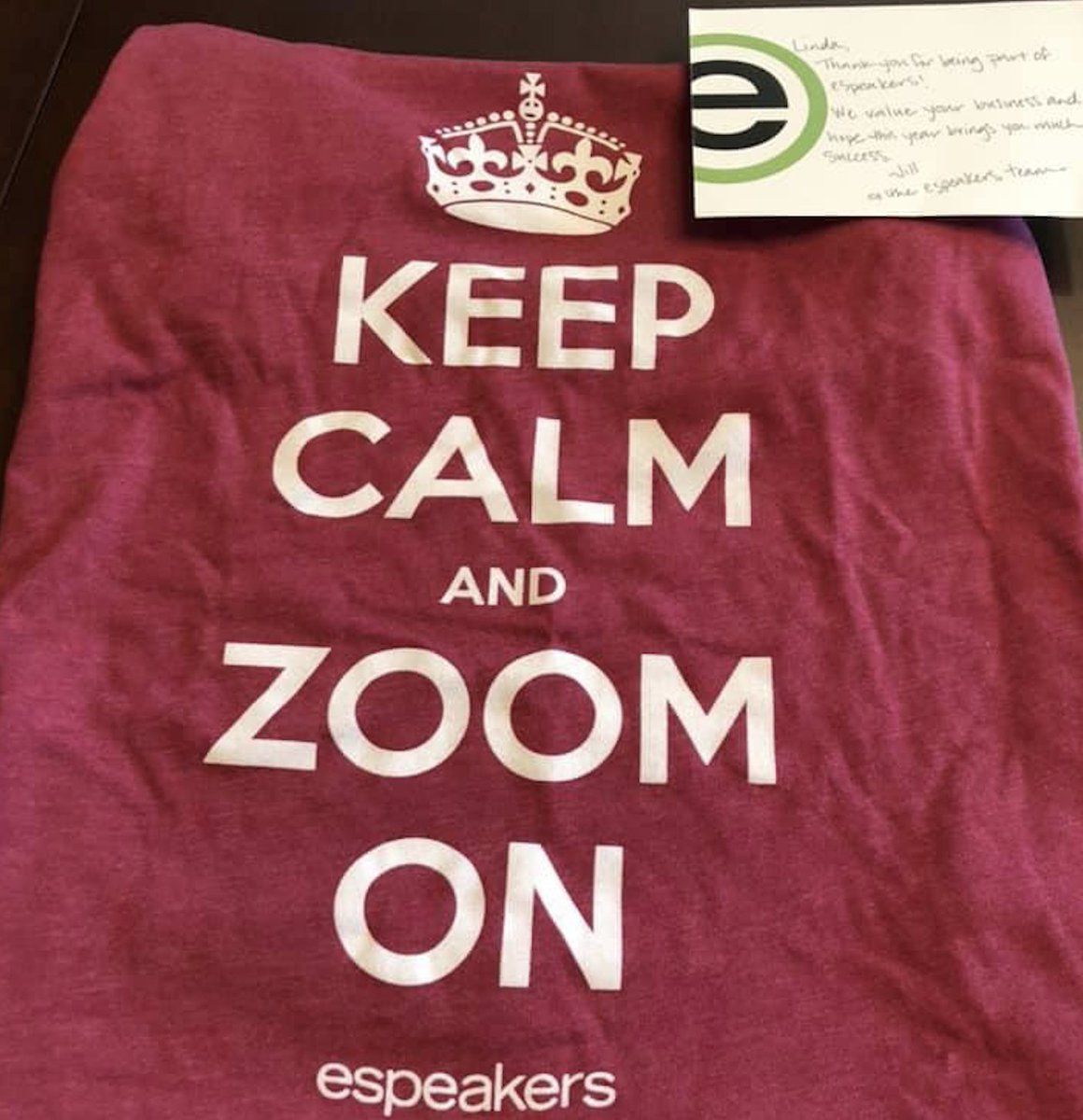 Thank you https://t.co/ZgHWZLmW7y LOVE my Zoom on Shirt and our friendship all these years! #Speakerslife #NSA #zoom #zoomcalls #zooming #meetings #espeakers https://t.co/eqio2jFbxn