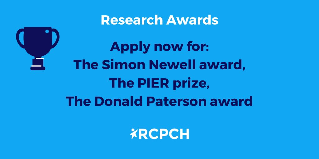 Three research awards are open now until November! Read more about our Donald Paterson, PIER, and Simon Newell awards: https://t.co/riWIoUXFSF https://t.co/AhZTP9B9L7