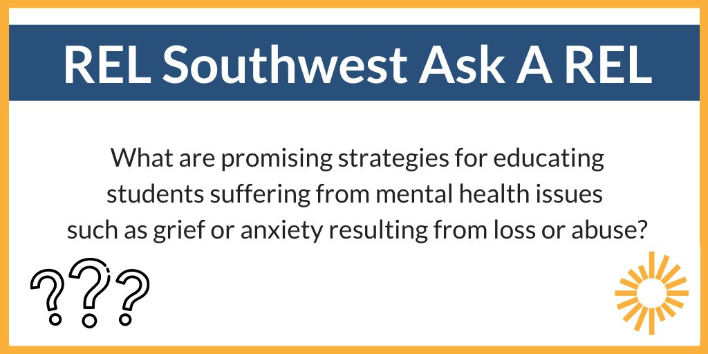 What are some useful strategies to support students with mental health needs? See what the #edresearch says: https://t.co/LBnDTeWj5U #AskAREL https://t.co/WU5MTLjXyu