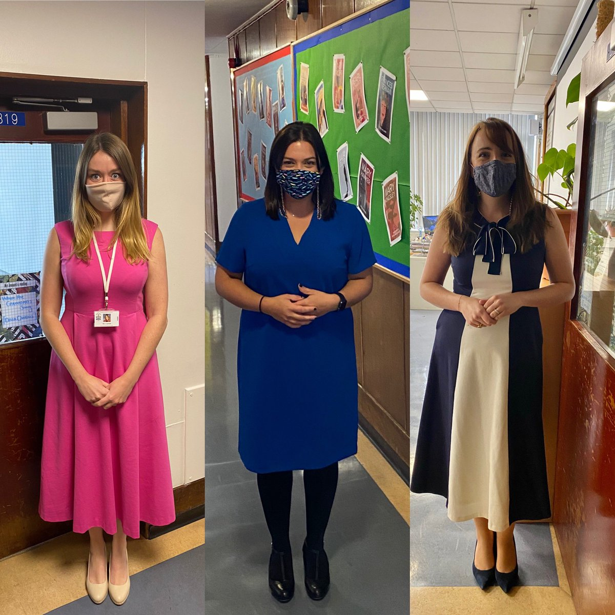 Your English teachers are wearing masks because they care about you and each other. Thank you to all our wonderful pupils for joining us in wearing theirs too. We're all in this together #belong #wearamask #staysafe https://t.co/reZnC5guyJ