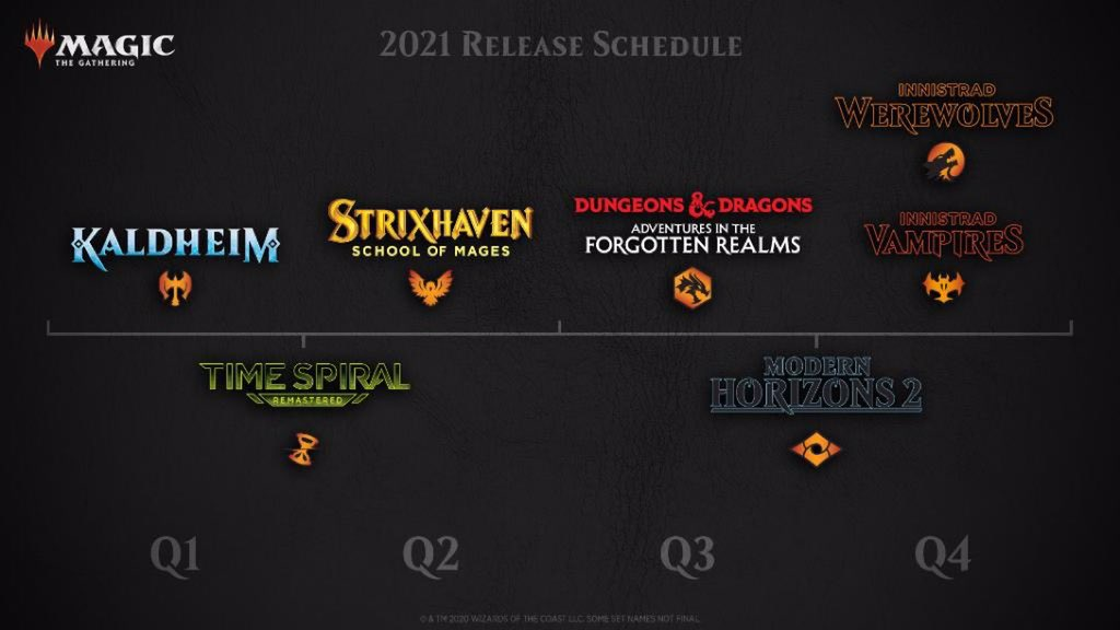 This is the most exciting lineup of Magic sets ever! I'm triply-biased, however, as both a lifelong D&D fan and the design lead for MH2. You'll have all of next year to judge for yourselves! #WOTCstaff #mtg (And now back to your regularly-scheduled #mtgznr previews...) https://t.co/U4Eo4TetSl