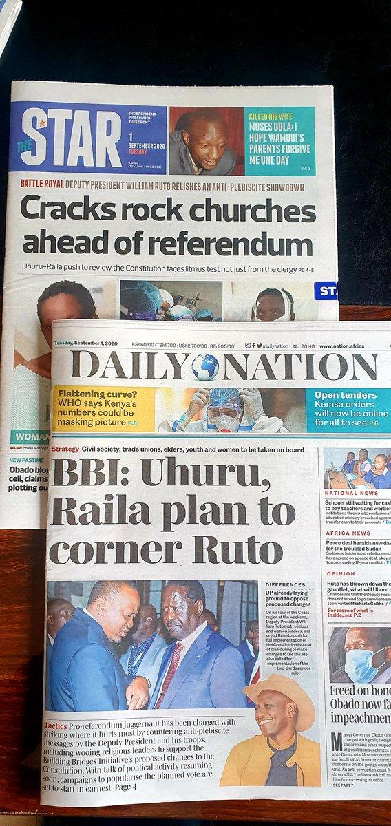 KE Media pushing #Referendum Agenda tooth and nail... creating a fait accompli..  WHY ??  @dailynation @TheStarKenya @davidmakali1 @gathara @mutuma_mathiu @LinusKaikai @WehliyeMohamed @NelsonHavi @Asmali77 https://t.co/mvuAo5ATVI