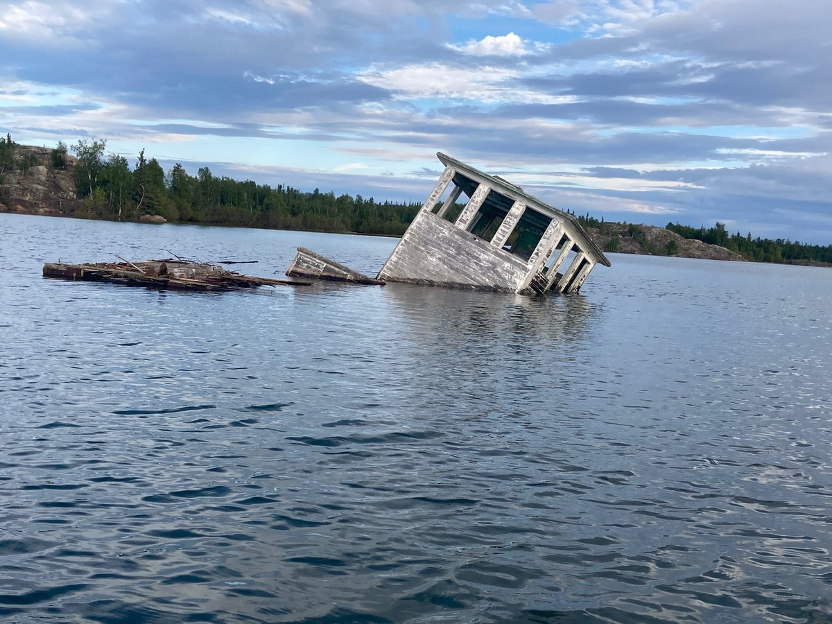 The Barge's Life | The Ol' Lady taking her final breaths of air; harbouring remarked sails of a soul dispatched, within timeless treasures and tales.  Memorandum & Montage  #moosebay #arcticlady #cbcnorth #lakewater #decompositional #restingplace #reflectionsofthewaylifeusedtobe https://t.co/8HZy09VfAS