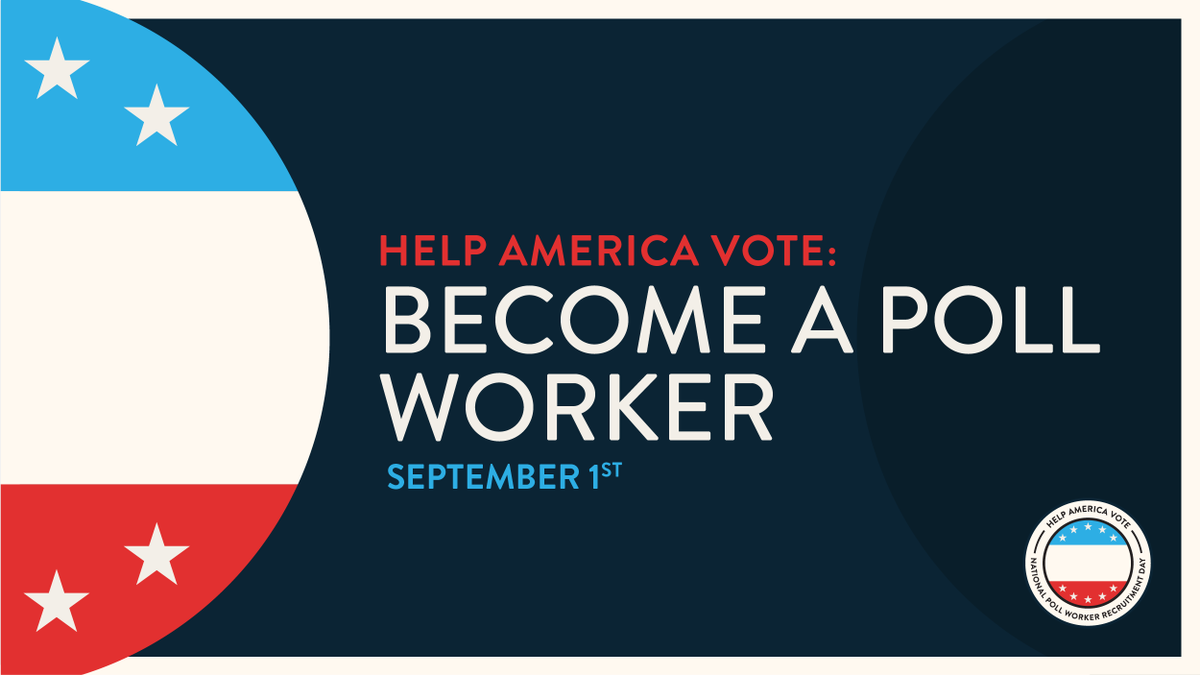 Rise and shine, it's time to #HelpAmericaVote! Today is #NationalPollWorkerRecruitmentDay and election officials across the country need election workers to ensure a free, fair, and accessible election in November. Learn more at https://t.co/RbOVwQfjTo. https://t.co/B0XWZV9NdO
