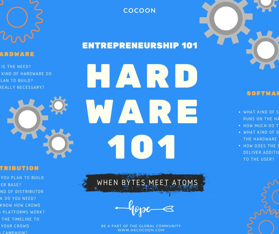 Startups thrive in new normals. If you are thinking about #startingahardwarebusiness, consider both the atoms and bytes. Here's part of the #Entrepreneurship101 series: Hardware101. Get access to the full series https://t.co/5YHMxUwaqm #startups #founders #hardware #bethechange https://t.co/ld7sBXO4Oe