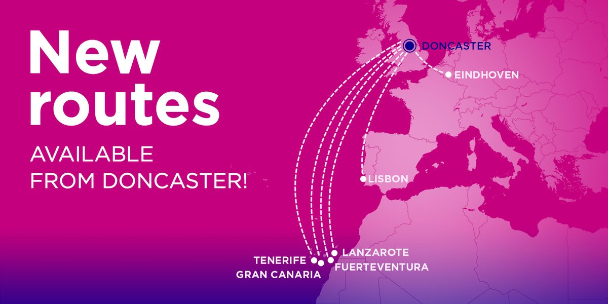 Wizz Air On Twitter New Routes From Doncaster From October You Ll Be Able To Travel To Lanzarote Eindhoven Fuerteventura Lisbon Gran Canaria And Tenerife From Our Recently Announce Uk Base Doncaster