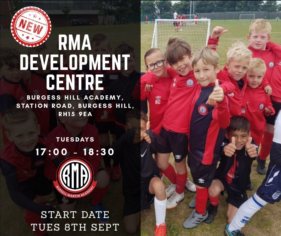 We are delighted to announce the launch of our brand new centre in Burgess Hill.   Our new mid Sussex centre will launch at Burgess Hill Academy on Tuesday 8th September.   To book your childs FREE taster session contact us via info@rmfoundation.co.uk https://t.co/zgIEF8aYpz