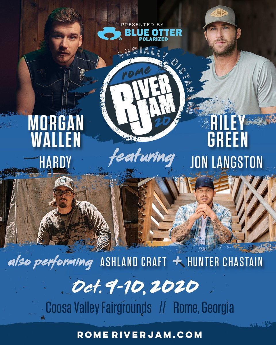 Morgan Wallen On Twitter Rome River Jam See Y All On Oct 9th Socially Distanced Of Course