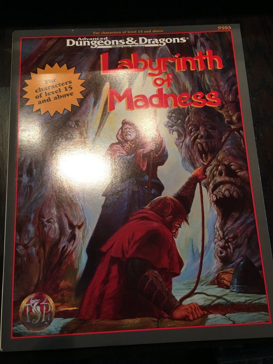 Back in my D&D/TSR product tour groove, lets keep rolling through the year 1995. Up today is another module - Labyrinth of Madness. Here are the two original shrink copies living in The Gamehole. https://t.co/yS8EtWZCh5
