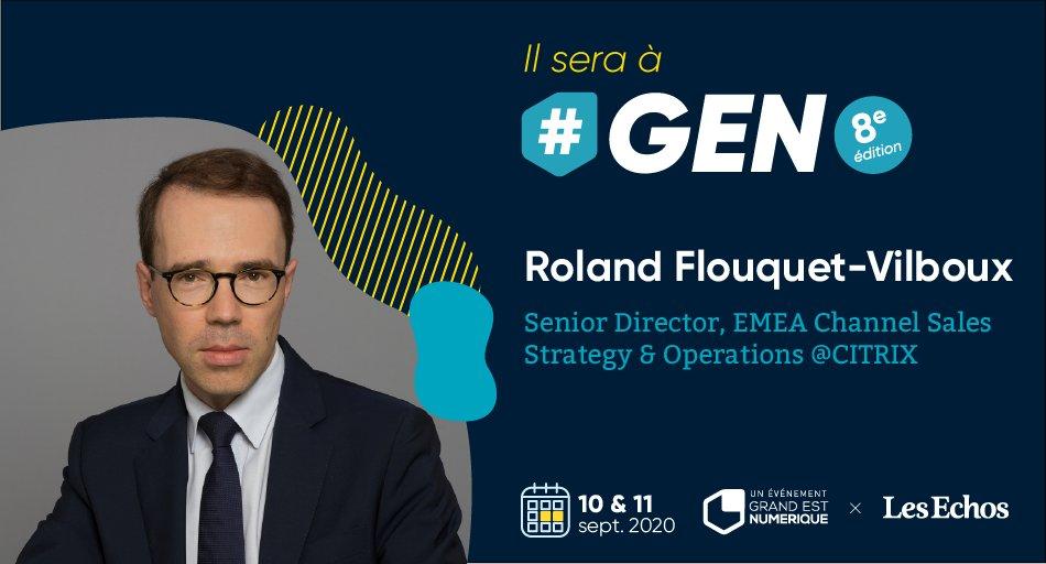 Roland Flouquet-Vilboux sera à #GEN2020 ! Il est Senior Director, EMEA Channel Sales Strategy & Operations chez @citrix. Il interviendra à #GEN sur le futur du #travail post #Covid19 ▶️👨💻 🎟️ Réservez votre pass pour #GEN, les 10 & 11 septembre 👉 https://t.co/jYq0aeXaWs https://t.co/loOa0IBb8d