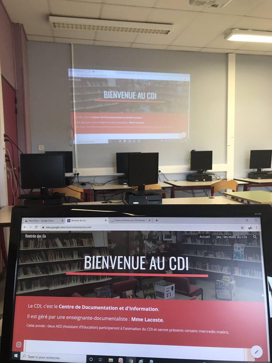 C'est parti pour une nouvelle année de lecture et de découvertes au CDI du @ClgJJRousseau82 malgré un contexte très particulier ! #EMI #LectureJeunesse #Culture https://t.co/ShaTo3q7Xp