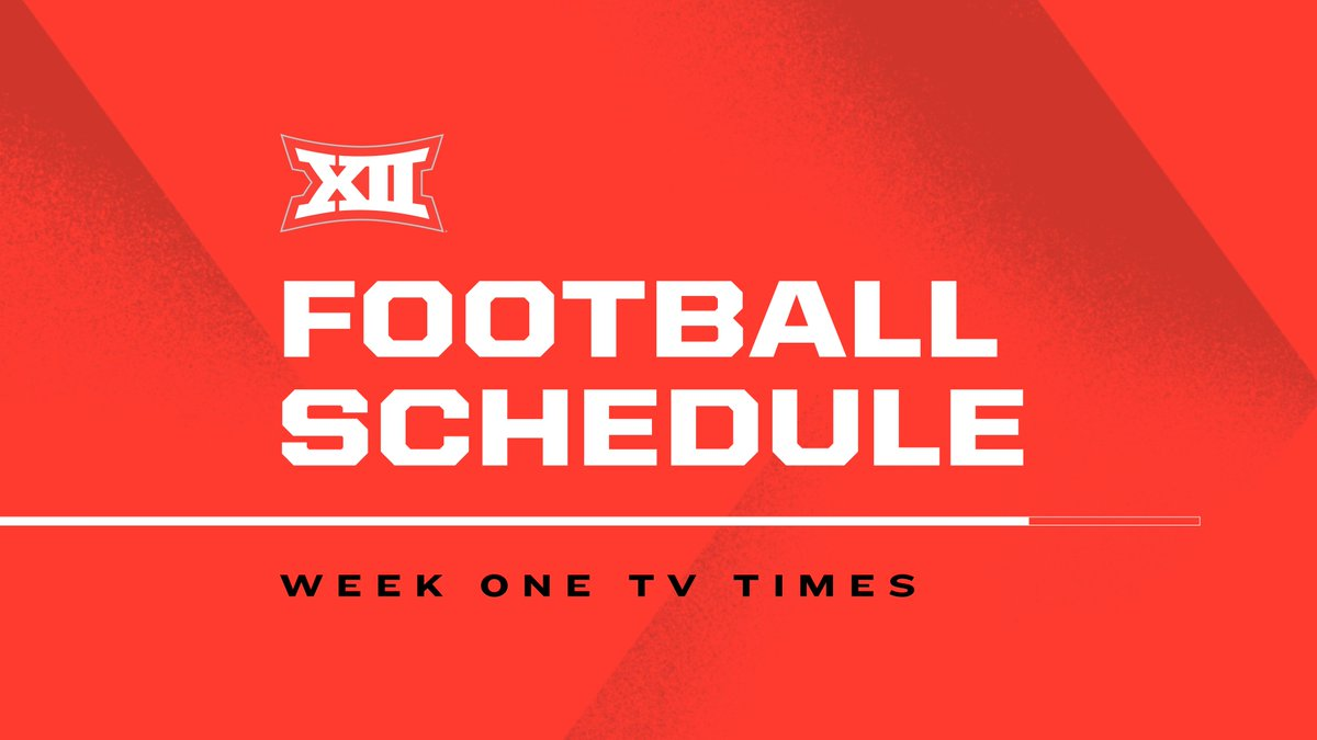 🙌 Almost time for some #Big12FB. Full Week 1 TV Schedule ➡️ big12.us/2EGlr7y