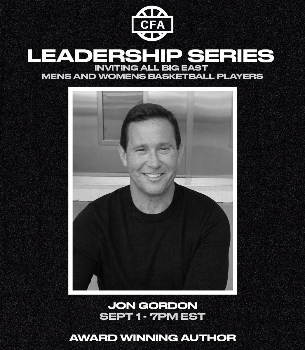 We are so excited to host @JonGordon11 for our first leadership session. Our members and players will have a great opportunity to learn and grow, as they prepare to lead this season on and off the court.