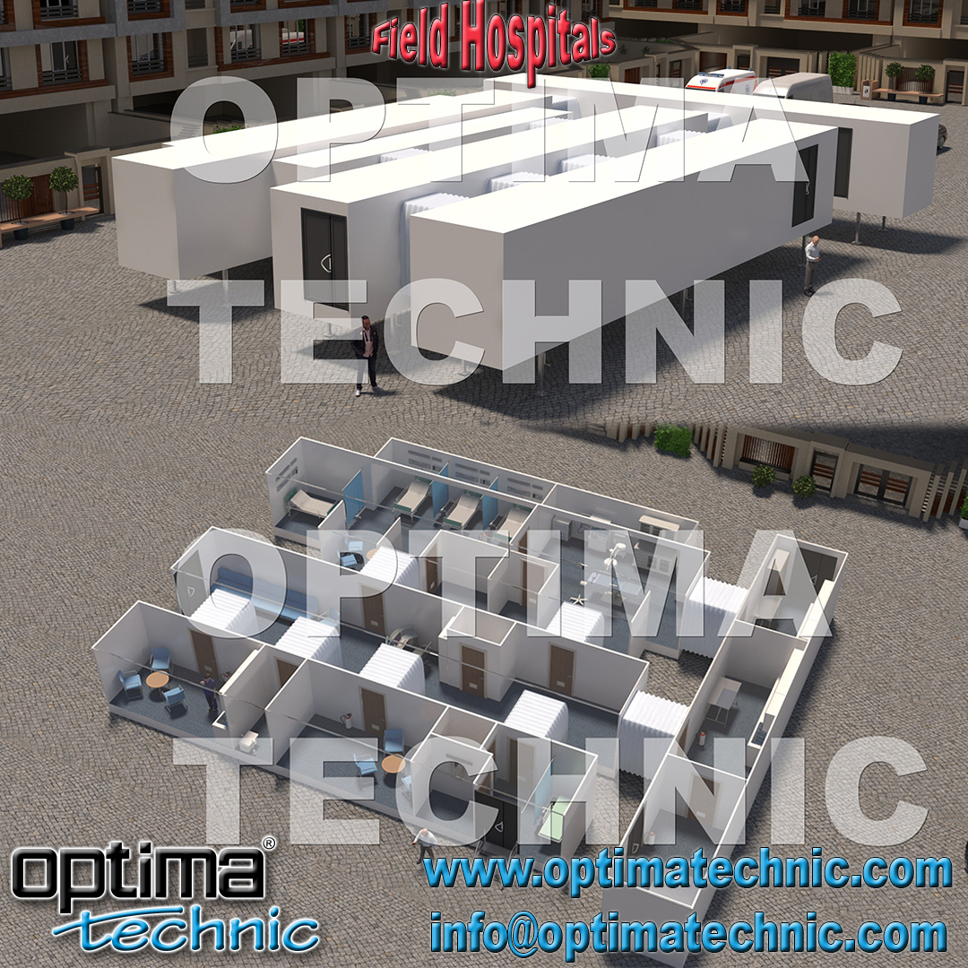 Optima Technic designing and manufacturing Trailer & Ground Based Field Hospitals. Capacities can be with 10 beds, 20 beds, 50 beds, 100 beds or more. All products are manufacturing as hospital standards. #optimatechnic #mobileclinics #mobilehospitals #fieldhospitals #healthcare https://t.co/6Gx583dtXW