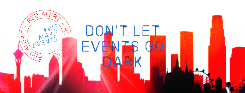 Today, #WeMakeEvents will light up in red over 1,500 venues across North America to raise public and media awareness in support of the live events sector. https://t.co/3SRywYT7cg  #WeMakeEvents #RedAlertRESTART #GoLIVEtogether #GES https://t.co/Nr8rOn59IO