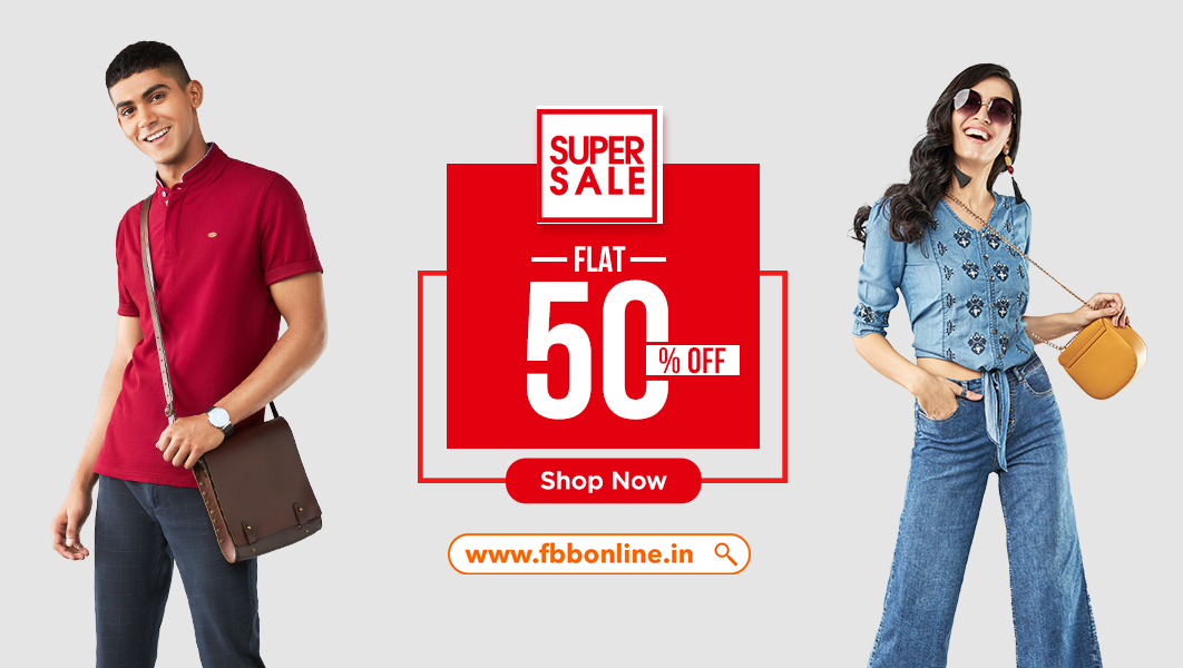 #SuperSale continues on https://t.co/QGuGR7ZRna as we slash our prices and bring to you a FLAT 50% off on all your favourite styles! Click here to avail these exciting offers. Shop now: https://t.co/Skh259DvCJ https://t.co/bxKx0jUaw0