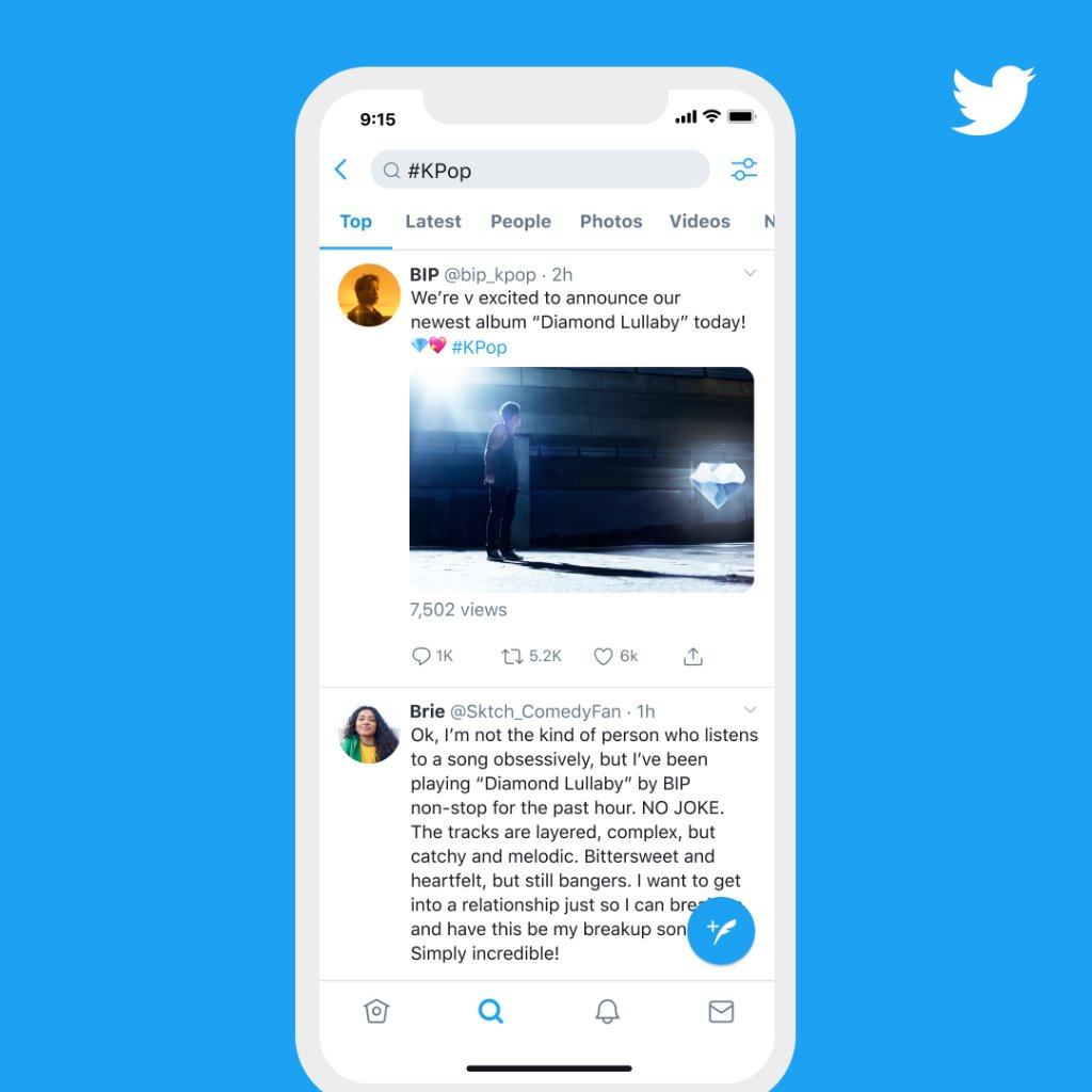 No more having to scroll through Tweets to find out why something's trending.  Starting today, some trends on Android and iOS will show a Tweet that gives context right away. More on Trend improvements: