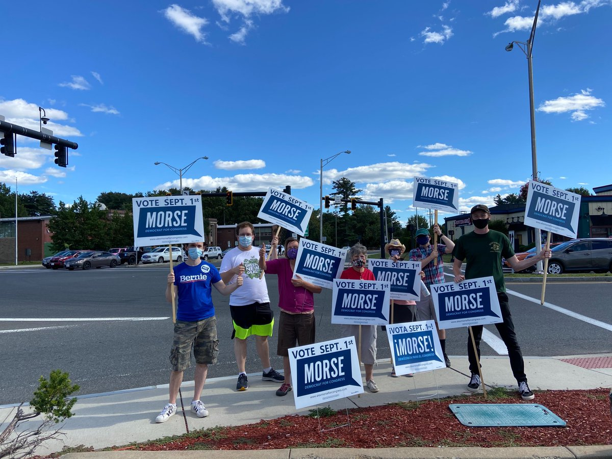 From Dalton to Springfield, the #MorseForce is showing up everywhere in #MA01 today.
