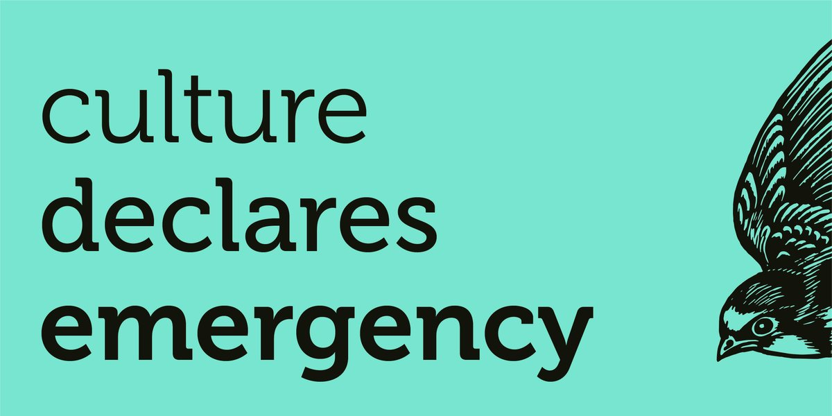 We can only address the climate and ecological emergency through changing the way we live and work, and that includes the screen industries. That is why we're part of @CultureDeclares. Tomorrow we'll be publishing #ScreenNewDeal, a major new report #BFIIndustry.