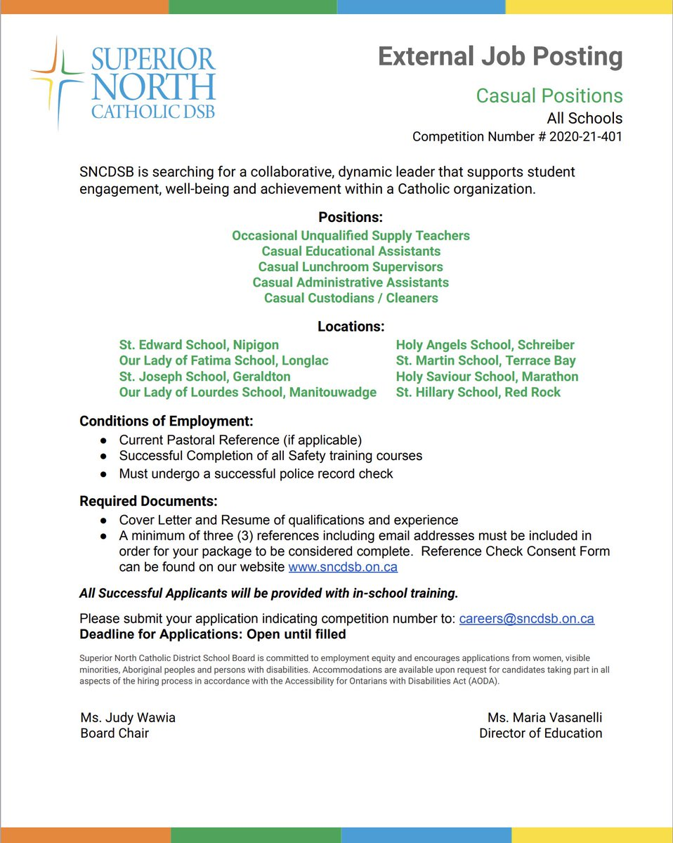 Join our team! #SNCDSB https://t.co/QtYfNGdeex https://t.co/iUiibR7bwZ