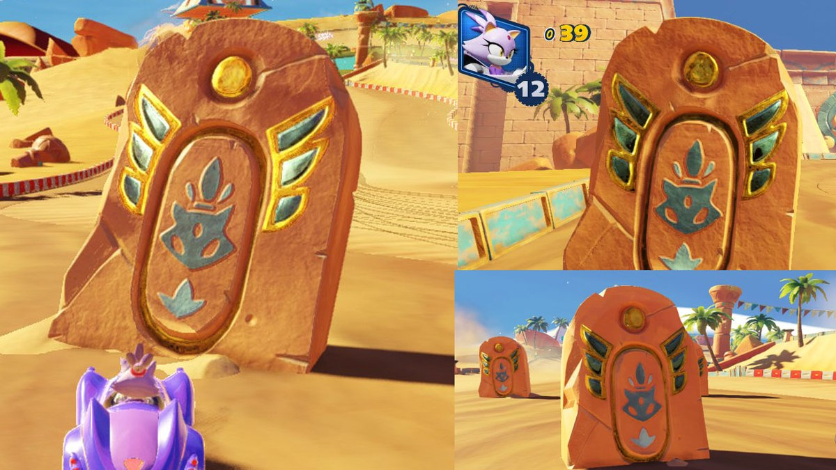 Daily Blaze The Cat On Twitter Blaze Themed Stone Obstacles From Sand Road In Team Sonic Racing