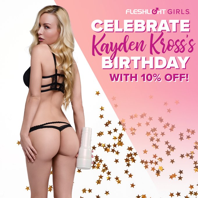 It's my birthday month and that means you get 10% off my @Fleshlight and other fleshlighty products with