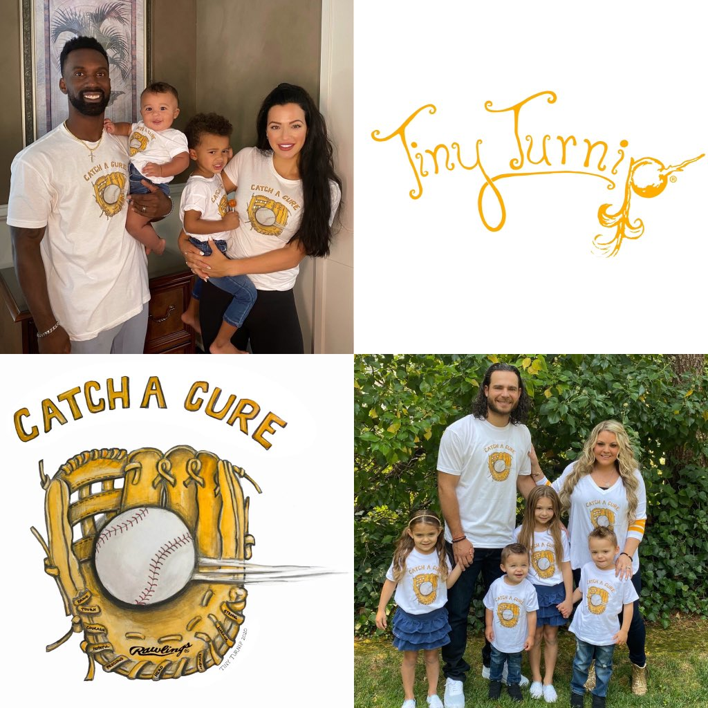 """Here is the link to the collection from our """"Catch A Cure"""" collaboration! https://t.co/VsUZhZPeeU 💛 https://t.co/l557fVrz9N"""