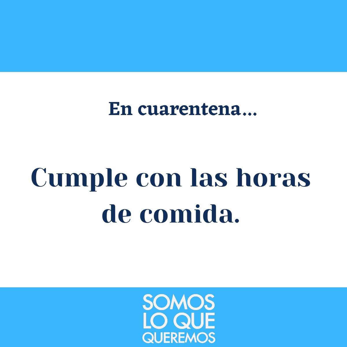 Debes comer🍝 en los horarios adecuados🕗 , ya que el descontrol en la ingesta de alimentos ocasiona daños en el sistema gastrointestinal.😔  . .  #SomosLoQueQueremos  #NadaCambiaSiTuNoCambias #Cuarentena #Covid_19 #QuédateEnCasa https://t.co/Vqs2A8ilwH