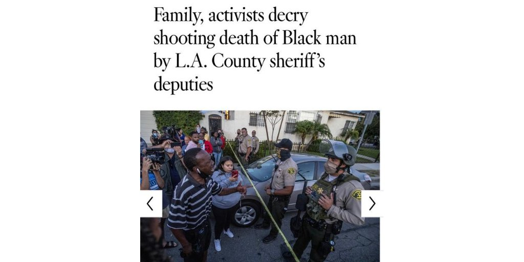 Our hearts are broken for #DijonKizzie and his family.   Community trust in #LASD has eroded from little to zero. Still no body cameras, all too similar to the loss of  #AndresGuardado in June. We demand answers @LACoSheriff. https://t.co/zzdEtaMzQG