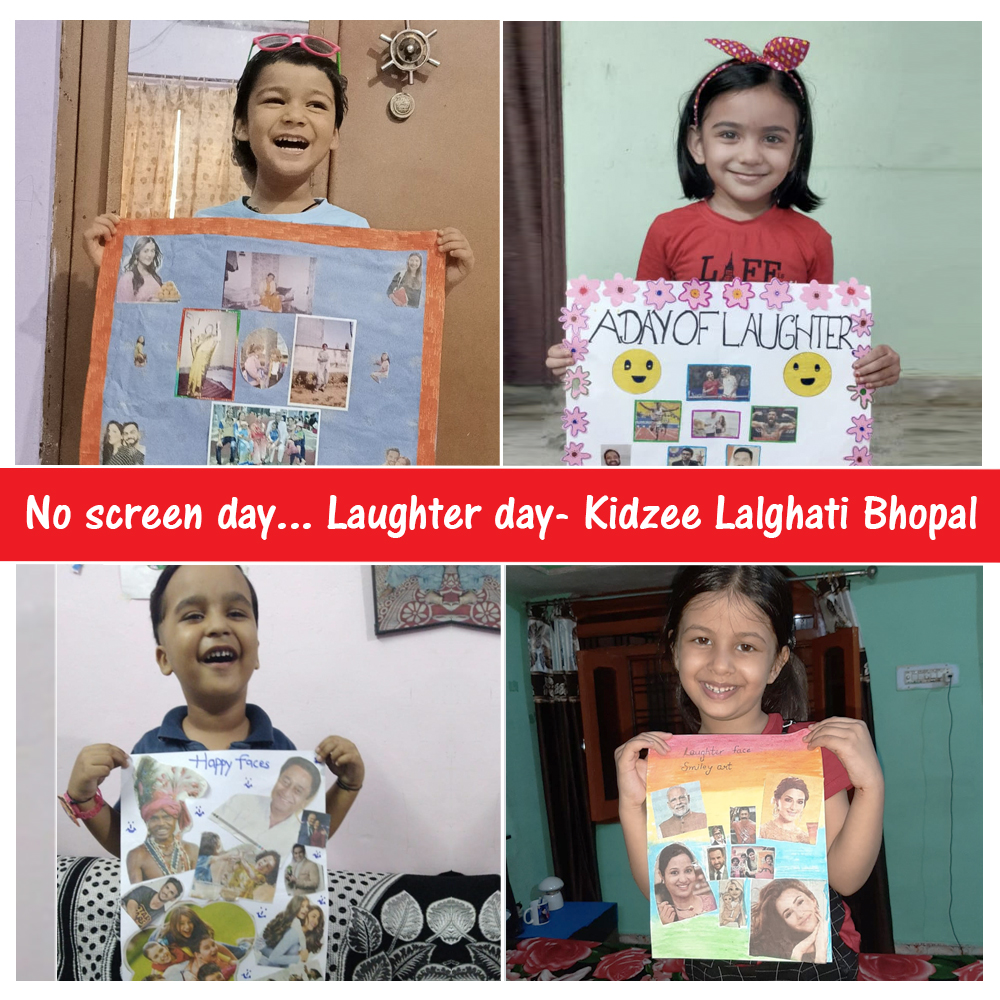 """Kidzee Lalghati Bhopal students were an active part of No screen day - Laughter day which was all about their interpretations of what """"A day of Laughter"""" means to them.  #Kidzee #KidzeeStudents #NoScreenDay #LaughterDay #Laughter #Happiness #Activity #RecessTime https://t.co/1pnIusMNVA"""