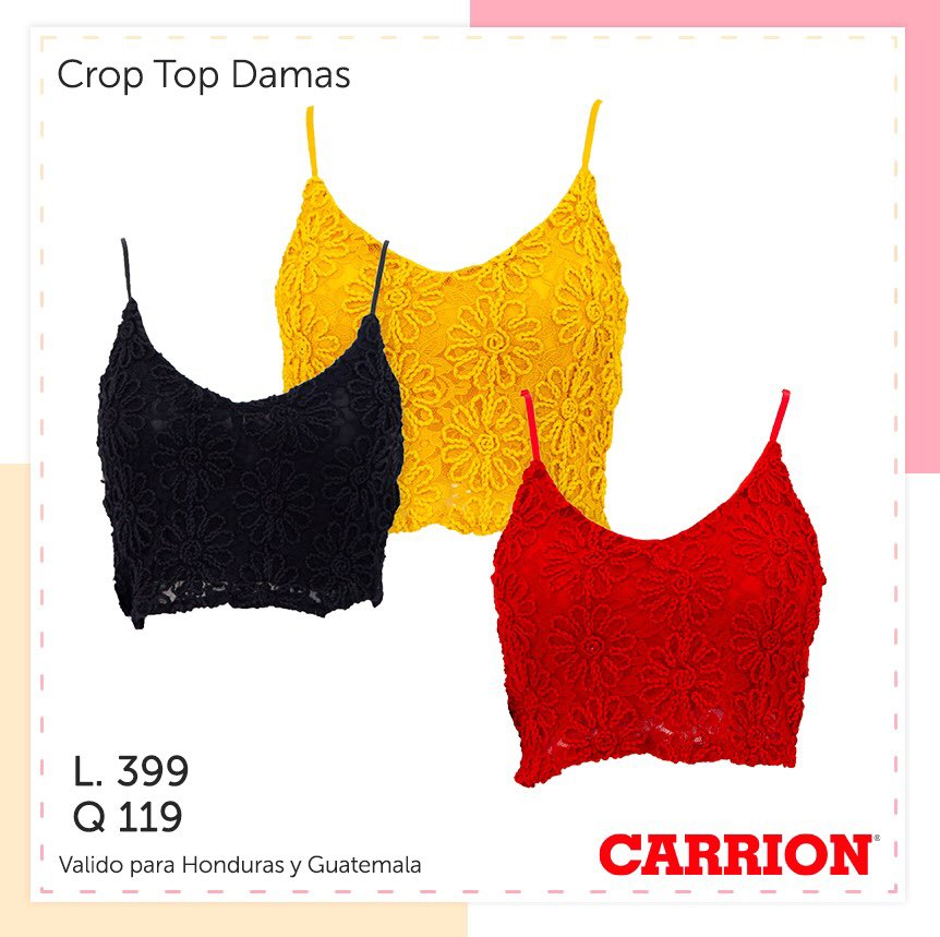 Luce tus crop tops en distintos colores #tiendascarrion https://t.co/3pQ1bnD36w