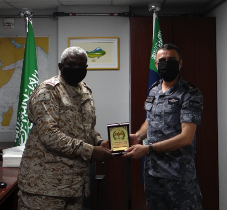 Last week CDR Alodat visited CTF 150 to say farewell to Commander RADM AL-Fakeeh and his team. CDR Alodat expressed his joy at working alongside CTF 150 as both task forces continue their ongoing efforts to conduct ?#maritimesecurity operations in the region. #ReadyTogether