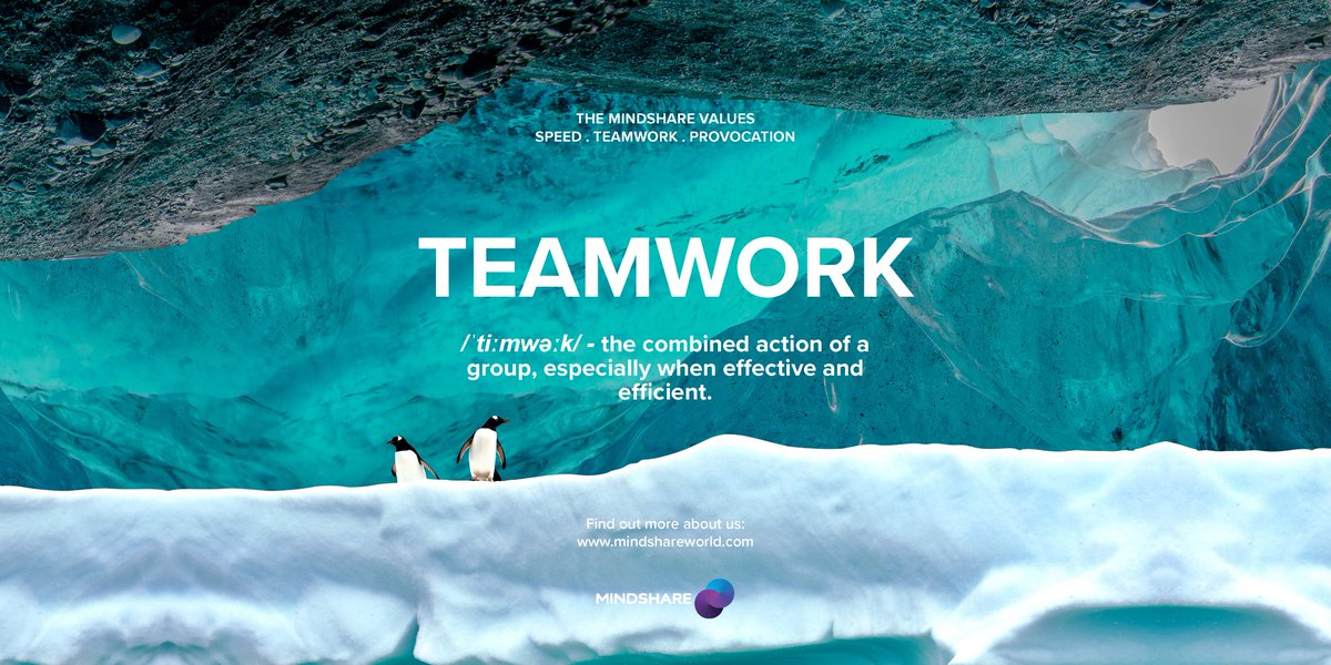 Another one of Mindshare's values is Teamwork. We have a diverse family which includes people from every culture and with every specialist skill you can imagine but our shared values and our mindset bind us together.  #TeamMindshare https://t.co/CqvF1iLz1u