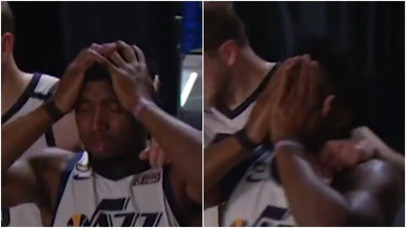 【影片】瘋狂抓頭+痛苦落淚!系列賽場均36.3分,Mitchell賽後採訪:再也不會首輪出局!