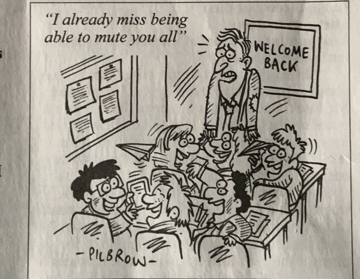 A safe return to all pupils and teachers going back to #school today. Cartoon courtesy of Private Eye #BackToSchool2020 #BackToSchoolSafely https://t.co/9SSYuMcXQd