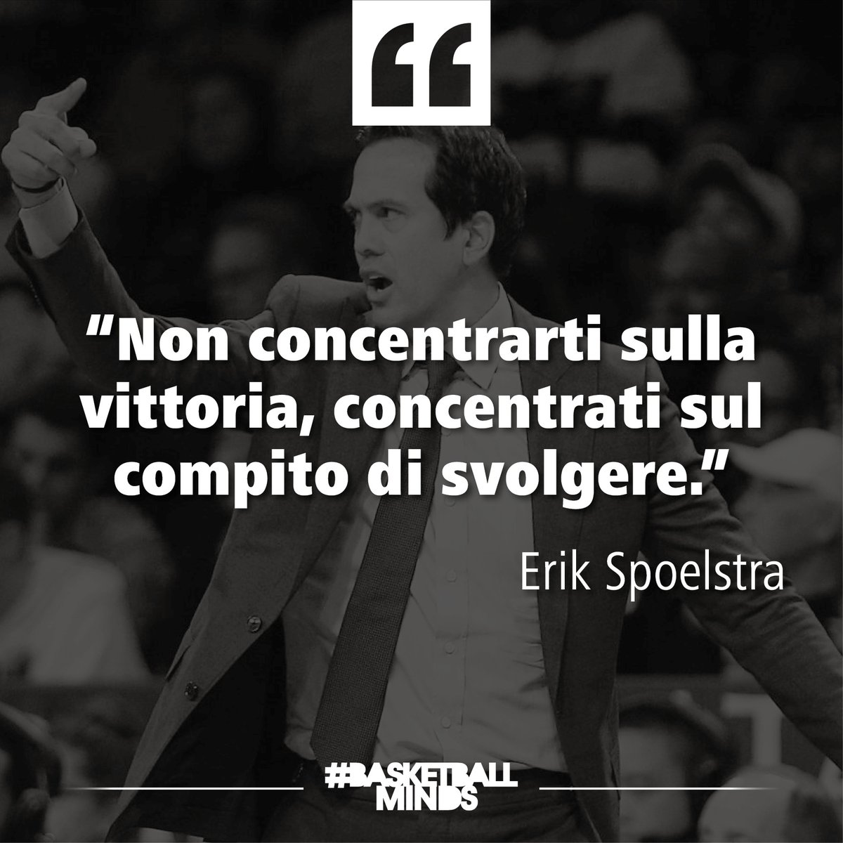 Concentriamo sulle cose importanti!  #WednesdayQuotes #BasketballQuotes #ErikSpoelstra https://t.co/sk33t02qkU