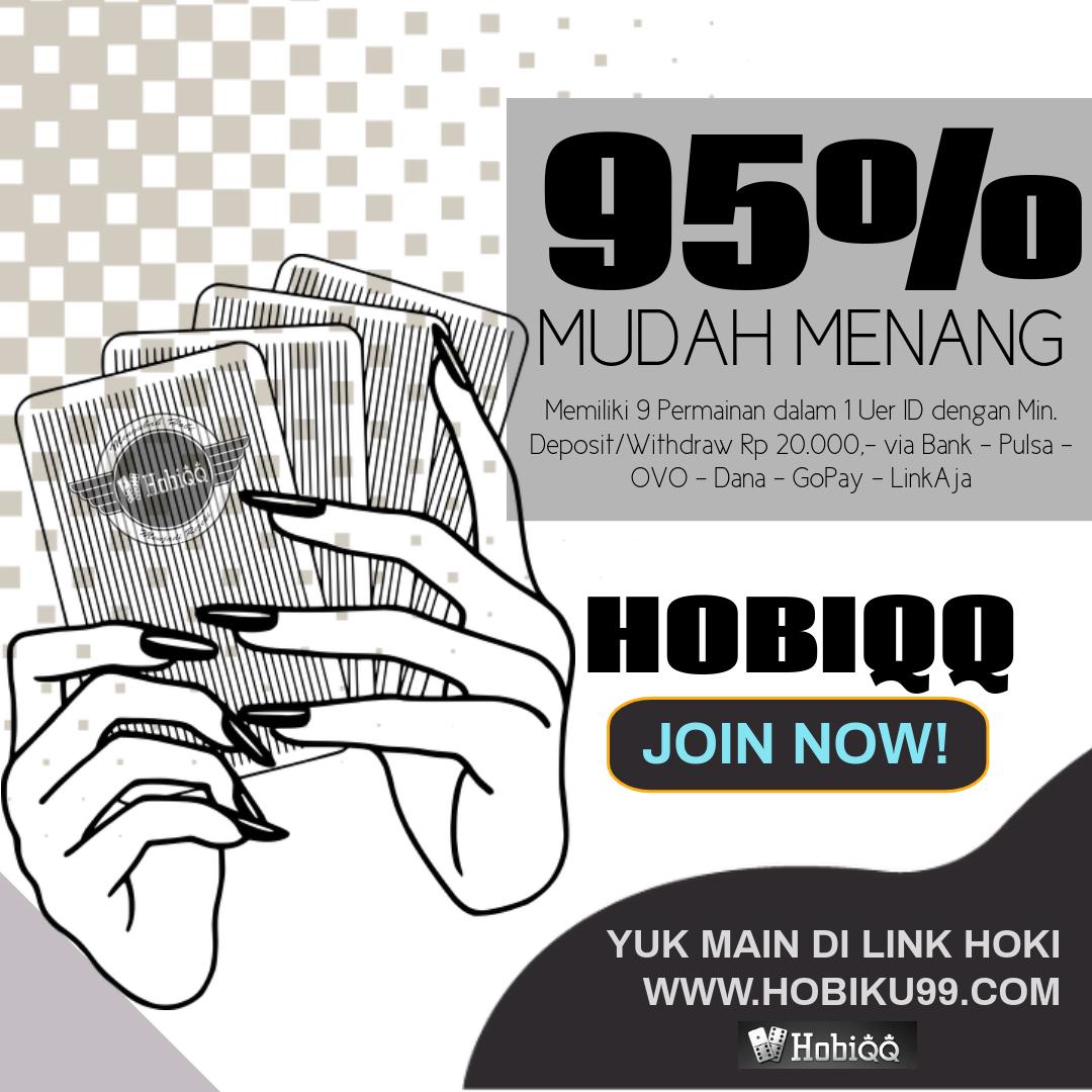 Raih KemenanganMu bersama HOBIQQ ! Situs Judi Online Terpercaya Min. 20 ribu via Bank | Pulsa (Tsel & XL) | OVO | Dana | Go-Pay | LinkAja  Link Resmi : HOBIKU99(.)com #pokeronline #judionlineterpercaya #pokeronlineindonesia #dominoqq #bandarpoker #hobiqq #pokerandalan https://t.co/CrLVigqDxQ