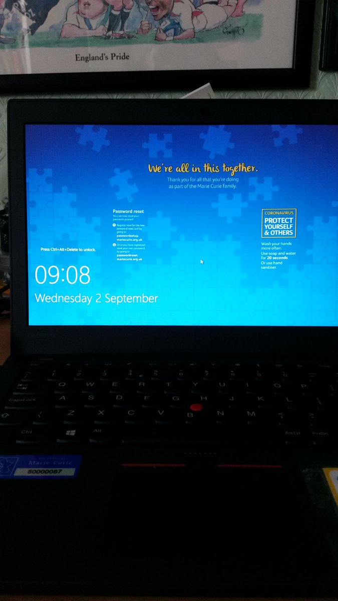 Happy September! Gr8 to be back at work @mariecurie #legacyteam @MarieCurieSE @MarieCurieLDN after been on furlough leave. Trying to log on🤔