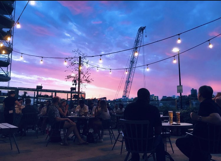 Summer nights are nearly gone for another year, but not yet! Come and enjoy wonderful views and sunsets in our gorgeous garden terrace😎 #nineelms #sunsets #terrace https://t.co/dKOYReOoaI