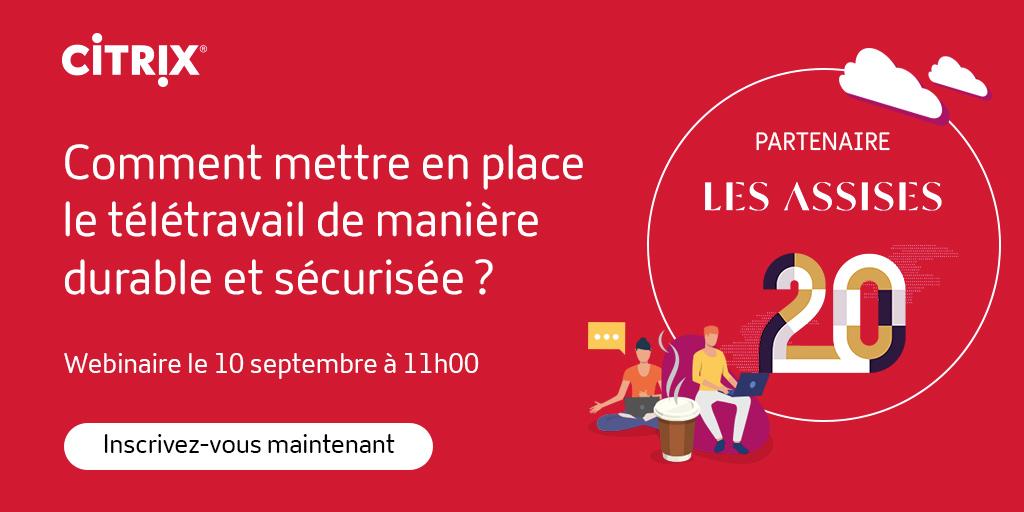 📅Notre #webinar pour #LesAssises se déroulera le jeudi 10 septembre à 11h. Découvrez comment mettre en place le #télétravail de manière durable et sécurisée en donnant la priorité à l'expérience #collaborateur! #UX @Les_Assises  Inscriptions ➡️ https://t.co/t3A0bKZVHx https://t.co/T8E3Cygwyc