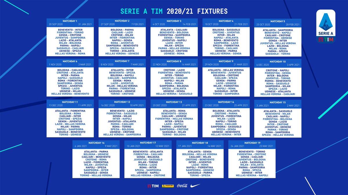 Calendrier Serie 2021 Serie A : le calendrier de la saison 2020 2021 est tombé, les