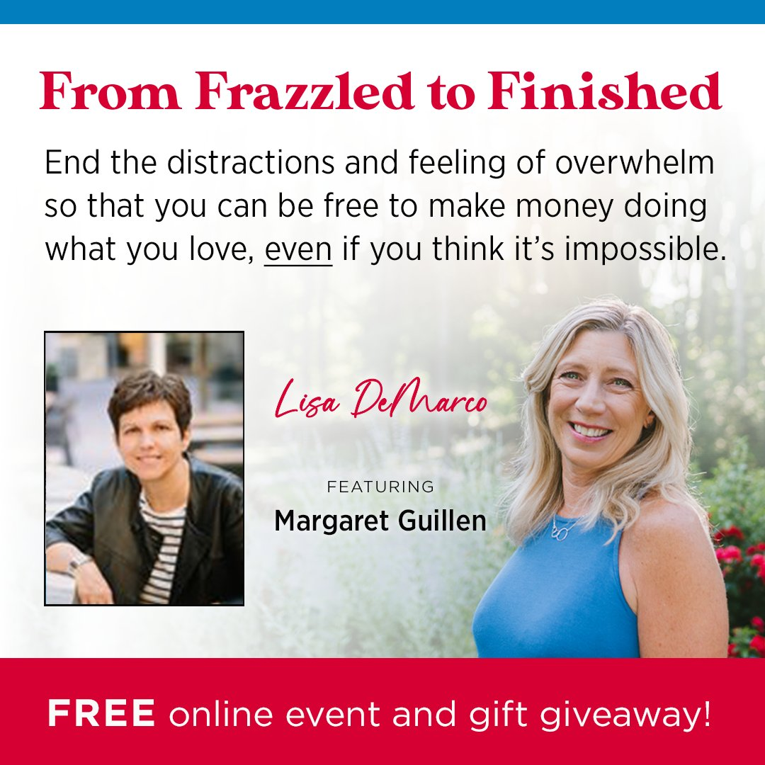 Discover the secrets to getting rid of constant interruptions and finish what you start so you can do MORE of what you love (& without trying to do it all!). Join me for this FREE Podcast-style series and gift giveaway. lisademarcocoaching.com/margaret #femaleentrepreneur #businessowner