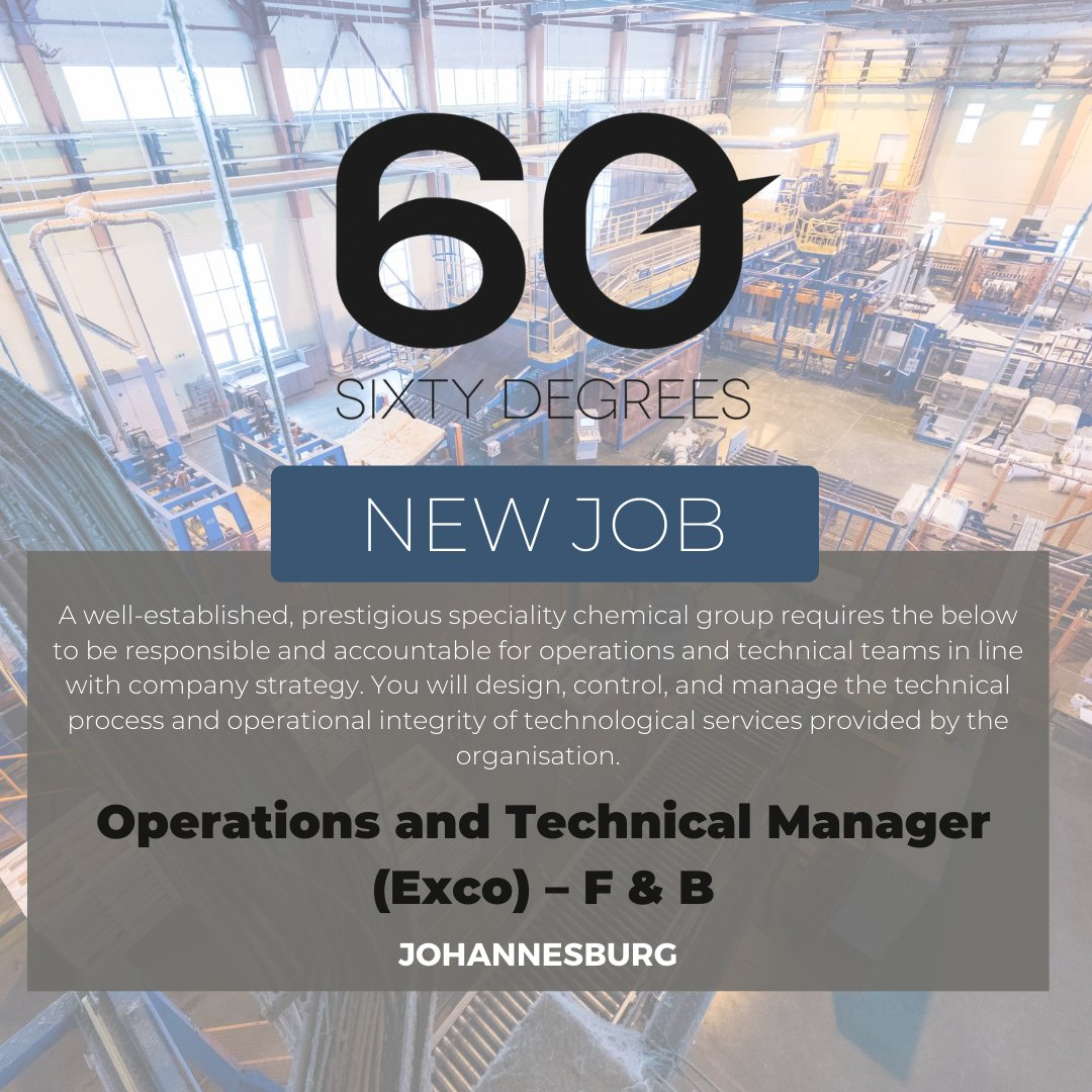 test Twitter Media - New #JobAlert - Operations and Technical Manager (Exco) – Food and Beverage Raw Materials in Sandton  https://t.co/LqLSRCivmW  #60Degrees #60DRecruiter #60Droles https://t.co/UyM6gbkkMA