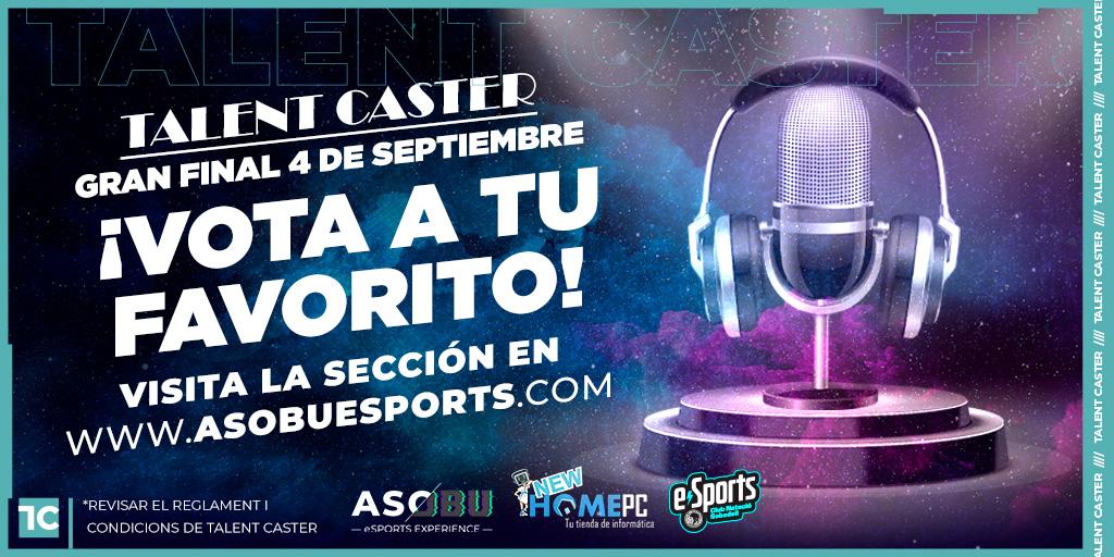 😎🎙️ #AsobuTalentCaster   ¡Hoy en directo analizamos el CONCURSO de TALENT CASTER de @asobu_esports con @andaluchino @White_Crow90 @D13Caceres   📺▶️ VOTA A TU CASTER PREFERIDO: https://t.co/Lz4Qpcsx9l  🎙️ GRAN FINAL este VIERNES!  #AsobuTalentCaster https://t.co/cLPIYkDev2